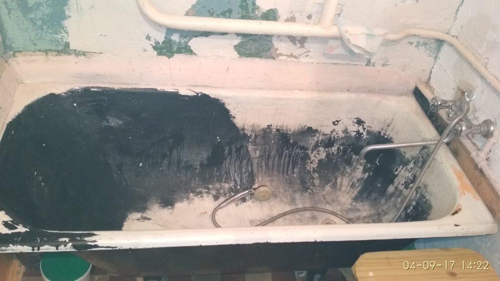 Реставрация чугунной ванны киев