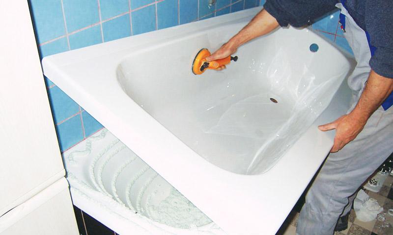 Эмалировка ванн акрилом - акриловка ванн