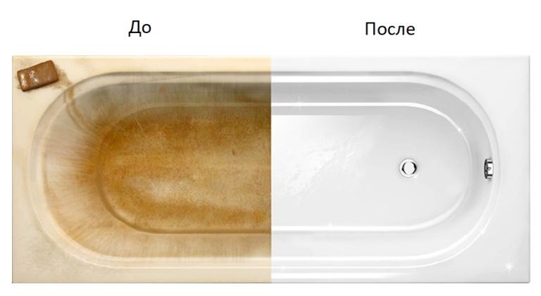 Реставрация чугунной ванны эмалью, ремонт акриловой ванны, заделка сколов, трещин и царапин